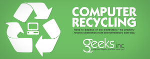 Geeks Inc Recycles Old Electronics